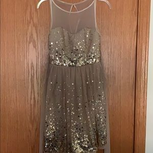 Gold Sequence Homecoming Dress
